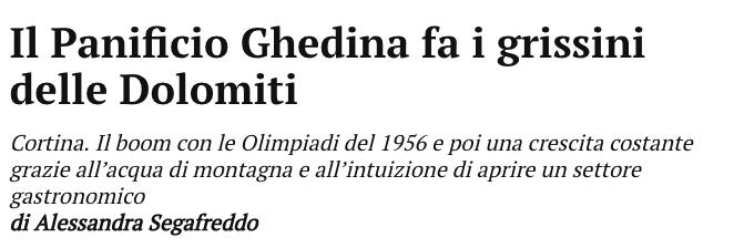 News Panifico Ghedina